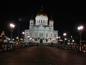 Cerkiew Chrystusa Zbawiciela nocą
